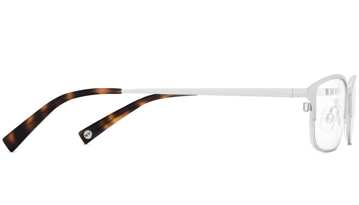 Side View Image of Graham Eyeglasses Collection, by Warby Parker Brand, in Polished Silver Color