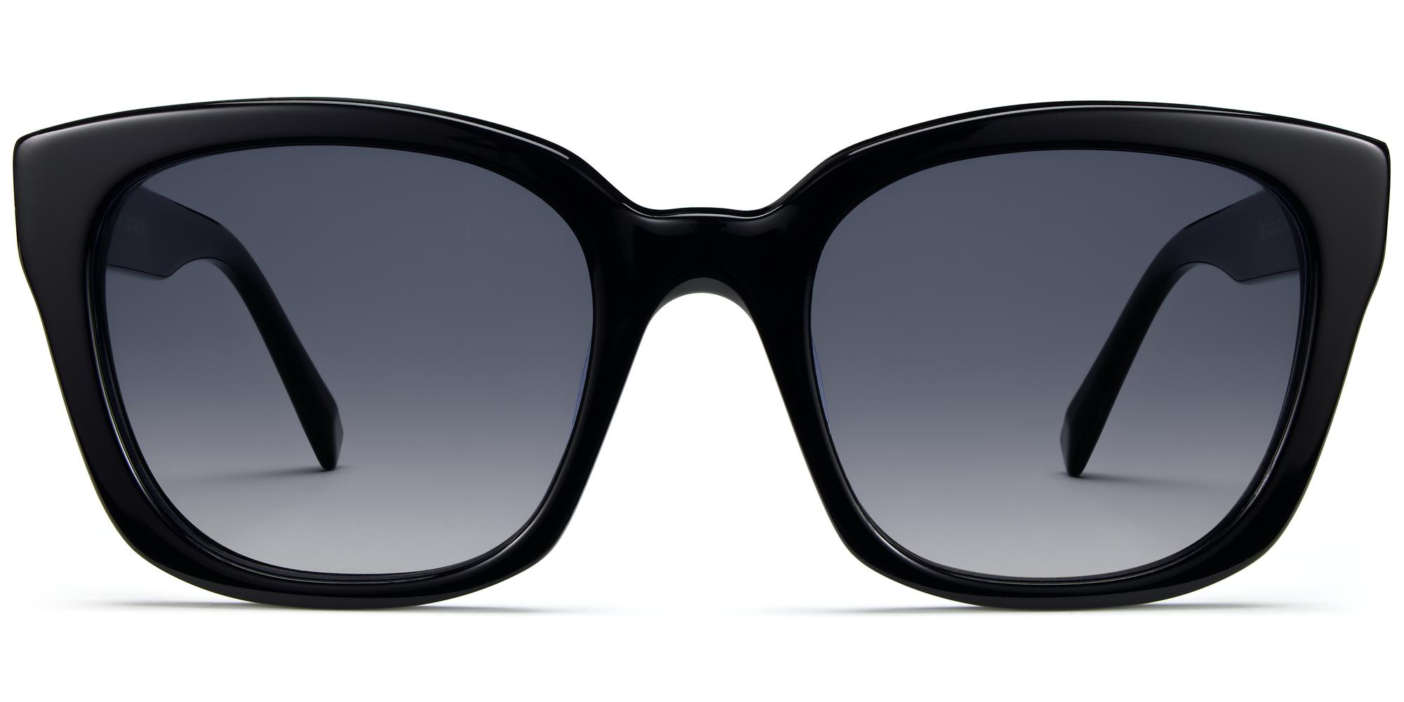 Front View Image of Aubrey Sunglasses Collection, by Warby Parker Brand, in Jet Black Color