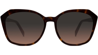 Front View Image of Nancy Sunglasses Collection, by Warby Parker Brand, in Cognac Tortoise Color