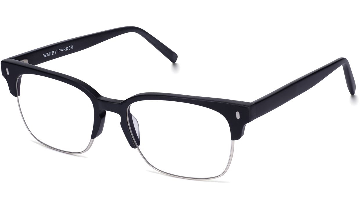 Angle View Image of Ames Eyeglasses Collection, by Warby Parker Brand, in Black Matte Color