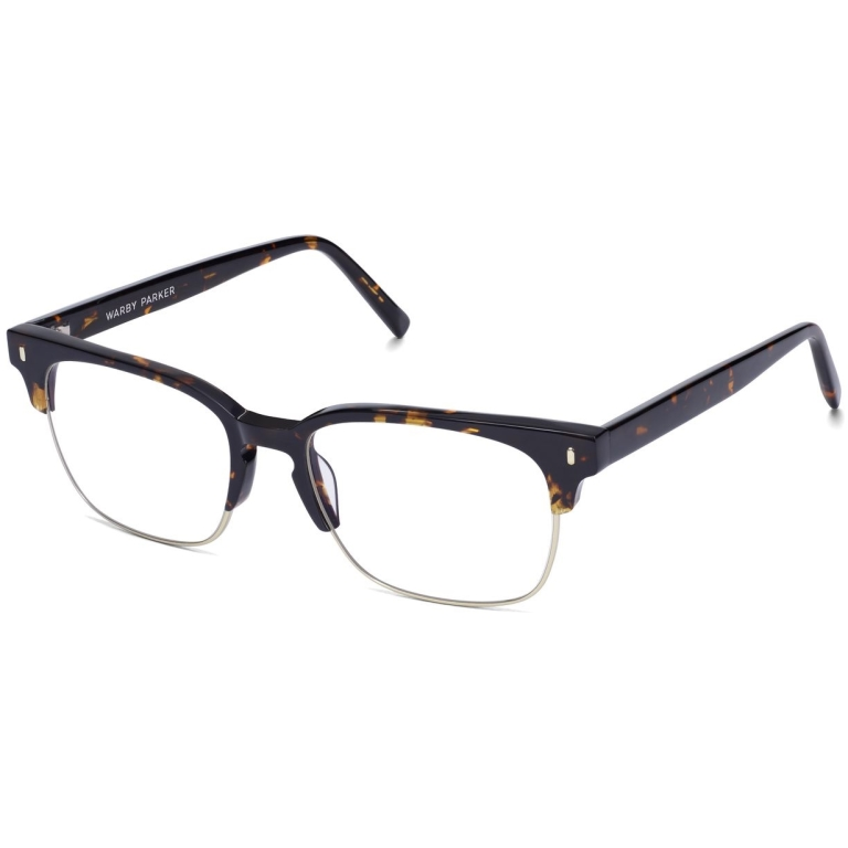 Angle View Image of Ames Eyeglasses Collection, by Warby Parker Brand, in Whiskey Tortoise Color