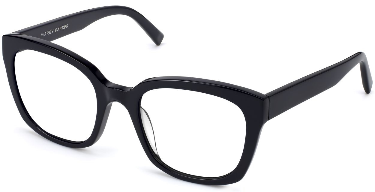Angle View Image of Aubrey Eyeglasses Collection, by Warby Parker Brand, in Jet Black Color