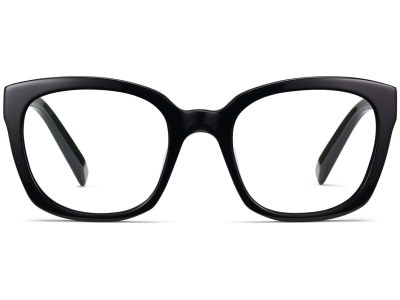 Front View Image of Aubrey Eyeglasses Collection, by Warby Parker Brand, in Jet Black Color