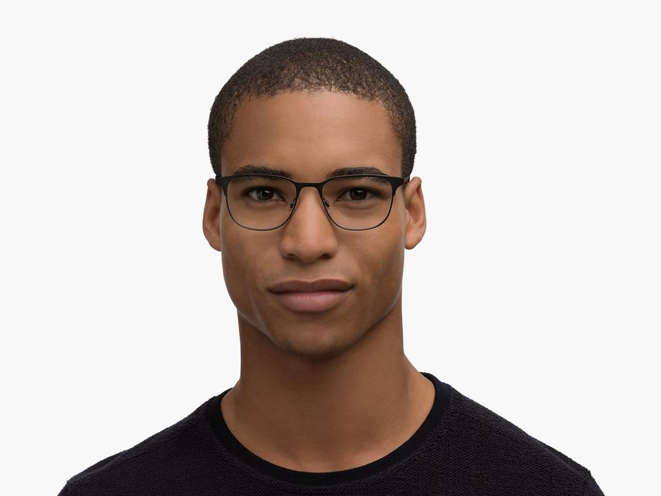 Men Model Image of Campbell Eyeglasses Collection, by Warby Parker Brand, in Carbon Color