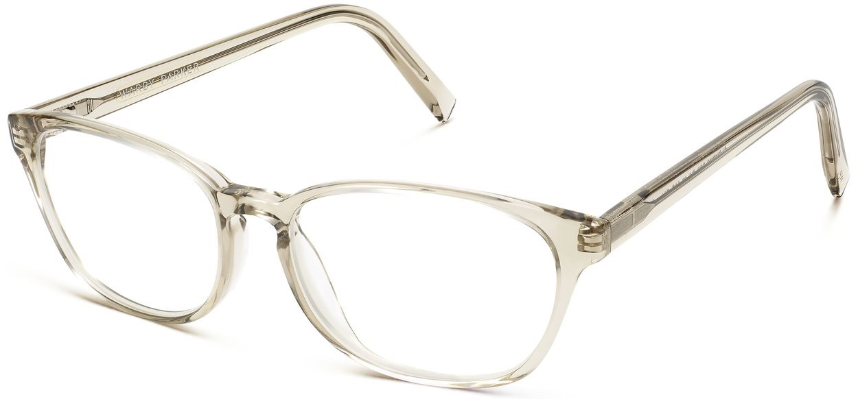 Angle View Image of Clemens Eyeglasses Collection, by Warby Parker Brand, in Smoky Quartz Crystal Color