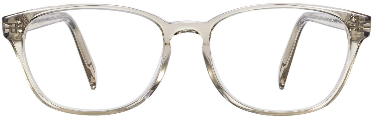 Front View Image of Clemens Eyeglasses Collection, by Warby Parker Brand, in Smoky Quartz Crystal Color