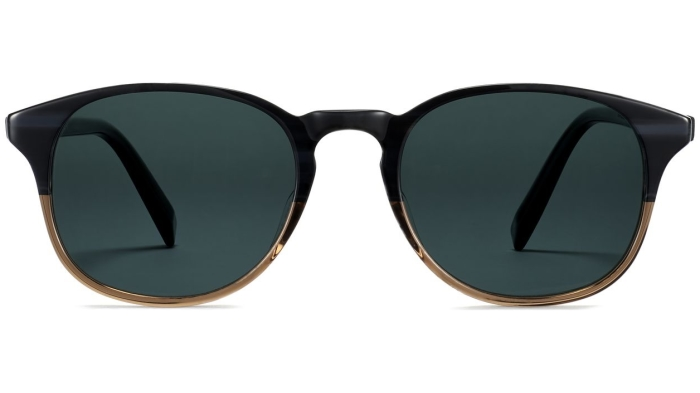 Front View Image of Downing Sunglasses Collection, by Warby Parker Brand, in Antique Shale Fade Color