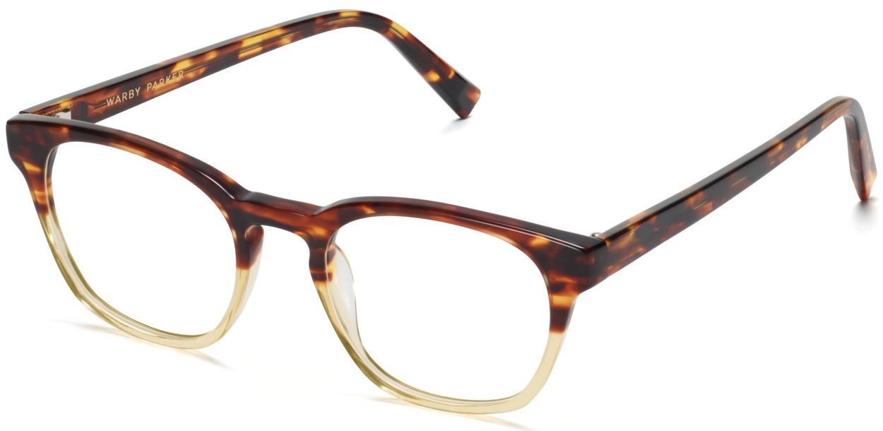 Angle View Image of Felix Eyeglasses Collection, by Warby Parker Brand, in Chamomile Fade Color