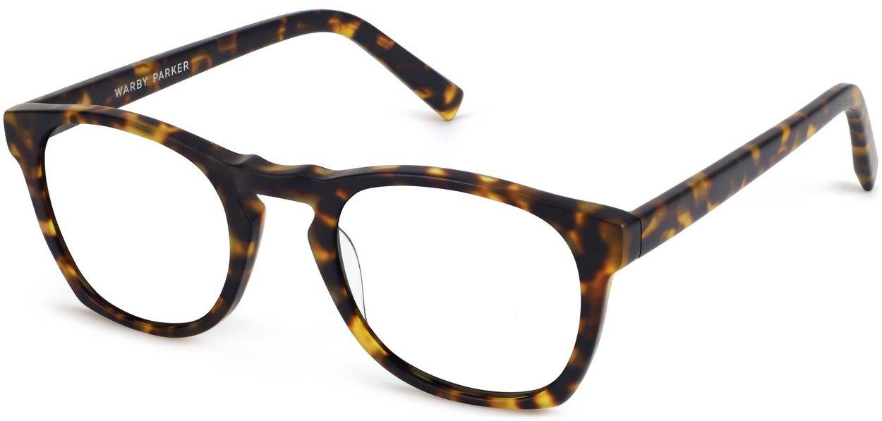 Angle View Image of Topper Eyeglasses Collection, by Warby Parker Brand, in Hazelnut Tortoise Matte Color