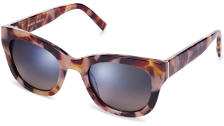 Angle View Image of Gemma Sunglasses Collection, by Warby Parker Brand, in Adobe Tortoise Color
