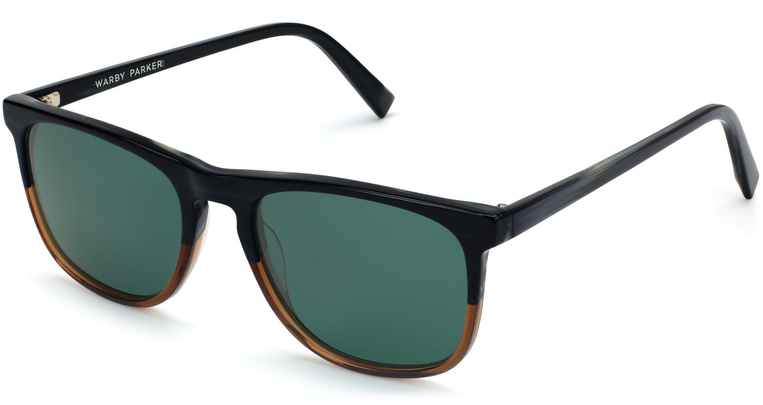 Angle View Image of Madox Sunglasses Collection, by Warby Parker Brand, in Antique Shale Fade Color