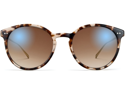 Front View Image of Langley Sunglasses Collection, by Warby Parker Brand, in Opal Tortoise with Riesling Color
