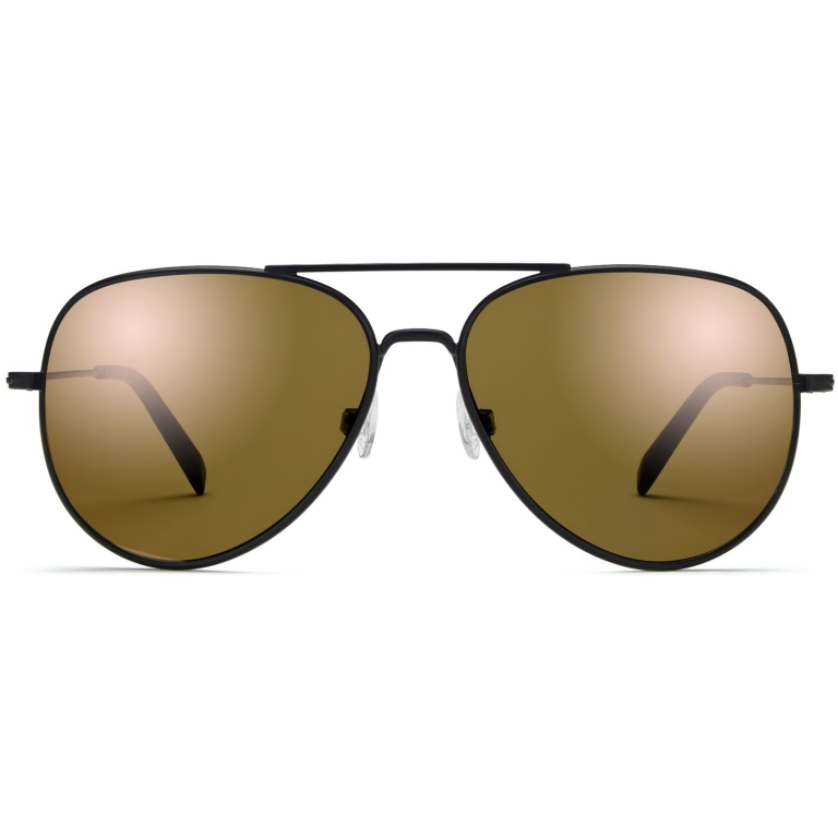 Raider Sunglasses in Brushed Ink with Flash Gold lenses