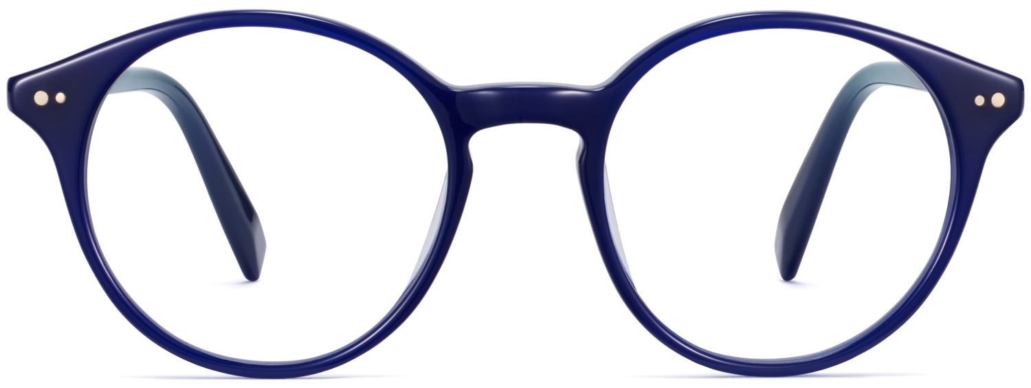 Front View Image of Morgan Eyeglasses Collection, by Warby Parker Brand, in Baltic Blue Color