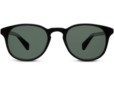 Front View Image of Downing Sunglasses Collection, by Warby Parker Brand, in Jet Black Color