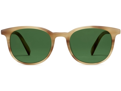 Front View Image of Durand Sunglasses Collection, by Warby Parker Brand, in Oak Resin Matte Color
