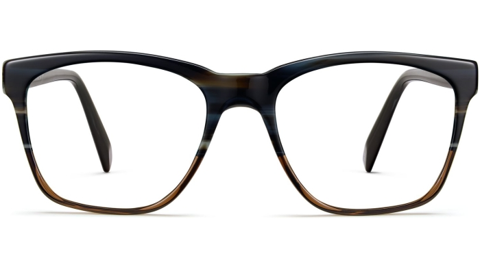 Front View Image of Barkley Eyeglasses Collection, by Warby Parker Brand, in Antique Shale Fade Color