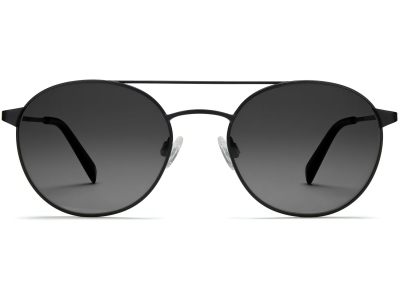 Front View Image of Fisher Sunglasses Collection, by Warby Parker Brand, in Brushed Ink Color