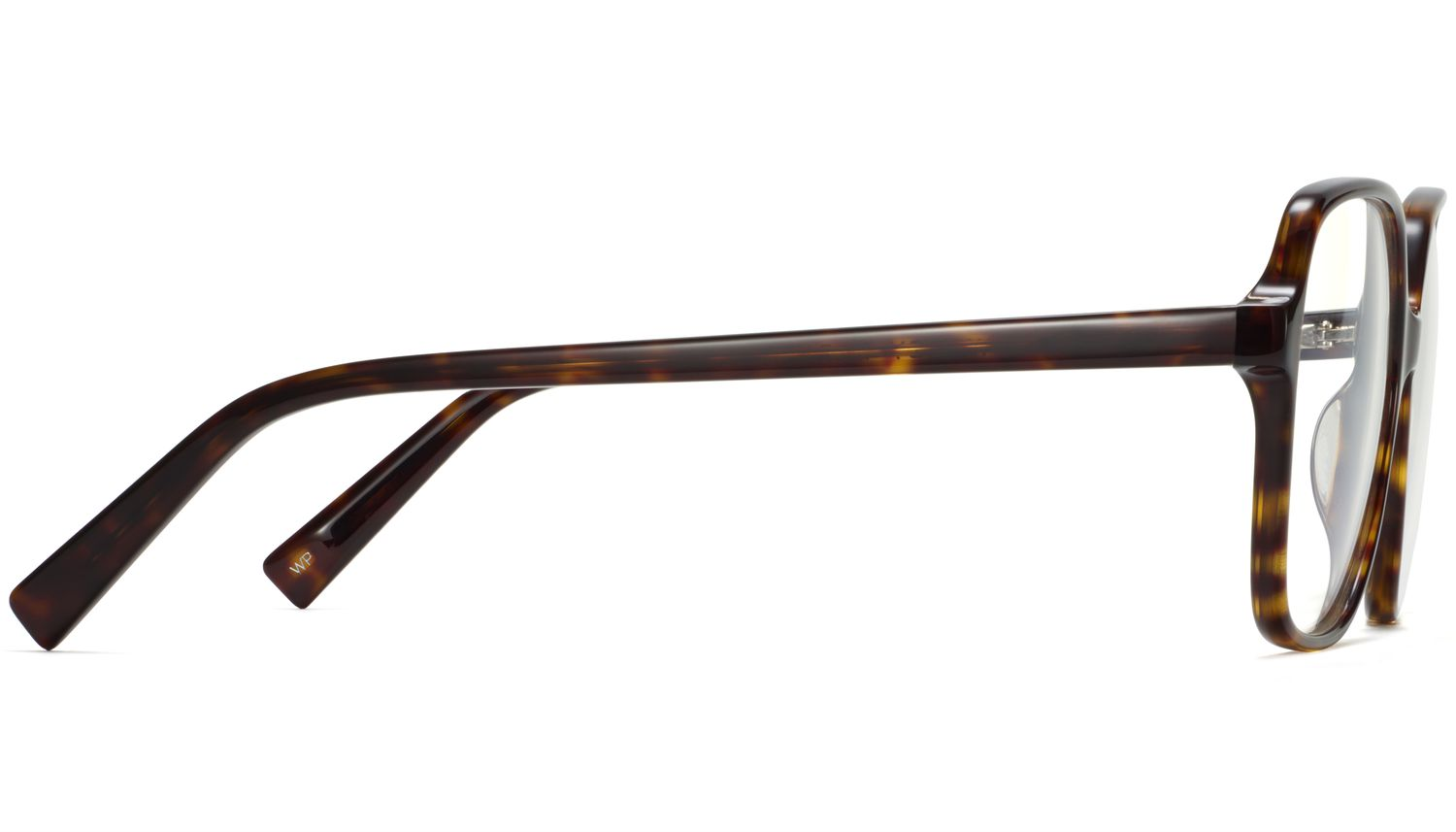 Side view Image of Alston Eyeglasses Collection, by Warby Parker Brand, in Cognac Tortoise Color