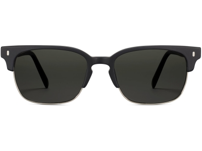 Front View Image of Ames Sunglasses Collection, by Warby Parker Brand, in Black Matte Color