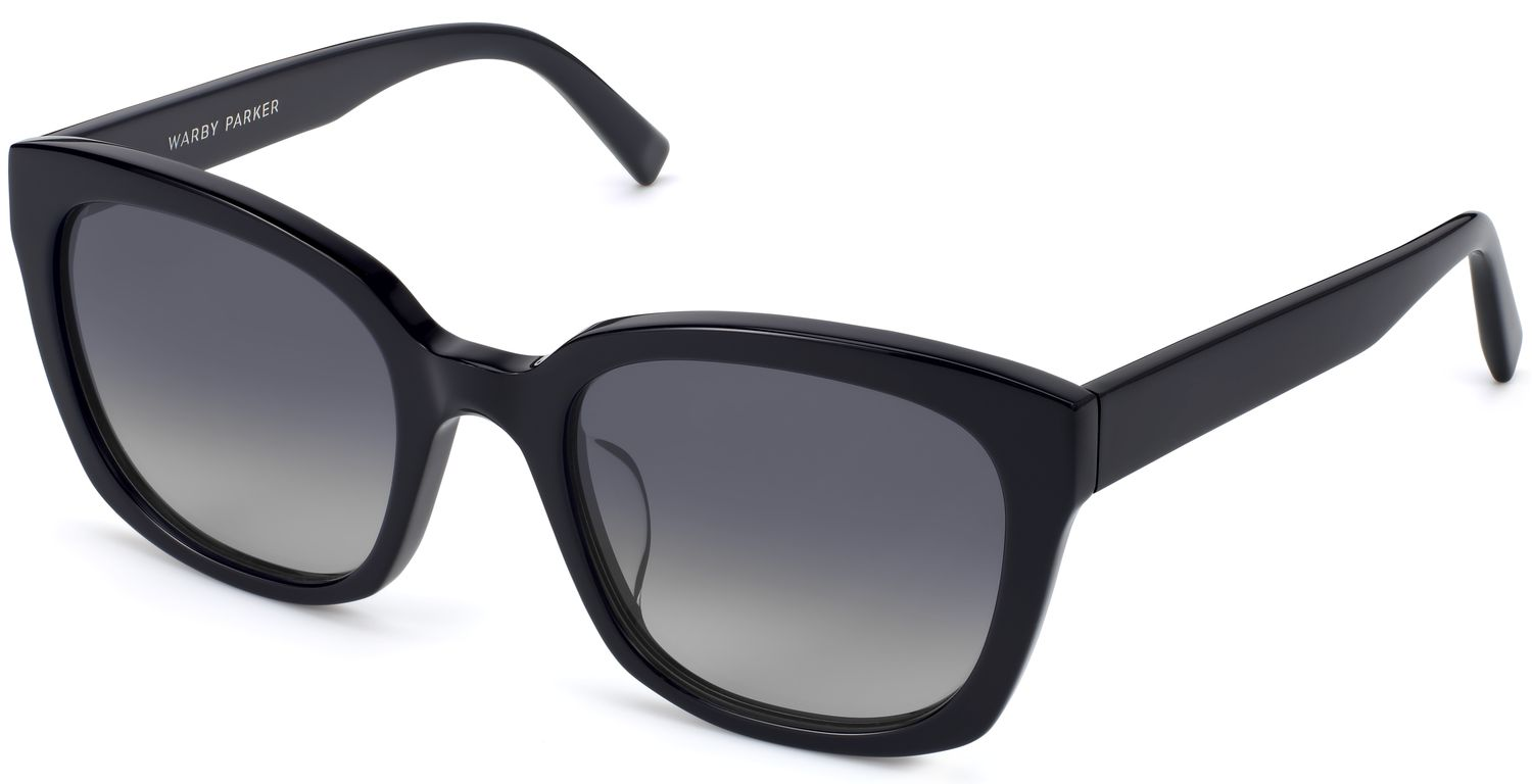 Angle View Image of Aubrey Sunglasses Collection, by Warby Parker Brand, in Jet Black Color
