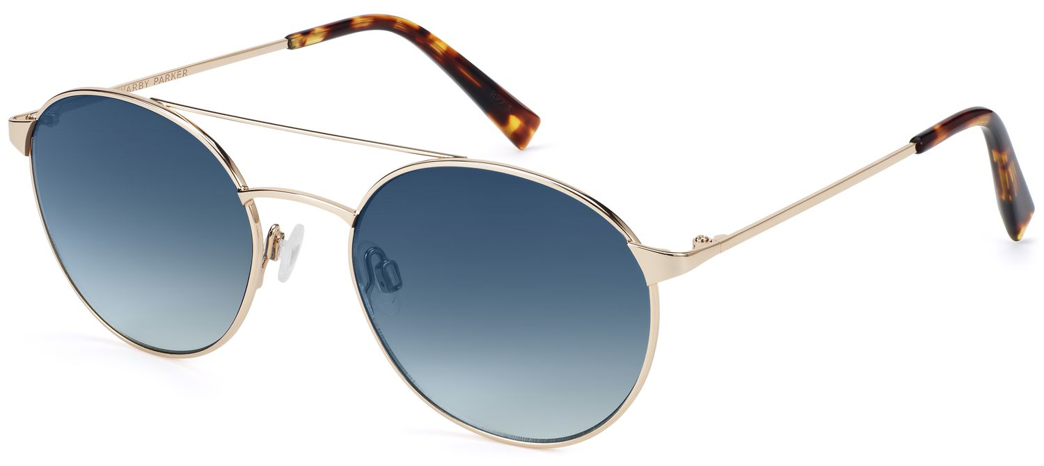 Fisher Sunglasses in Polished Gold