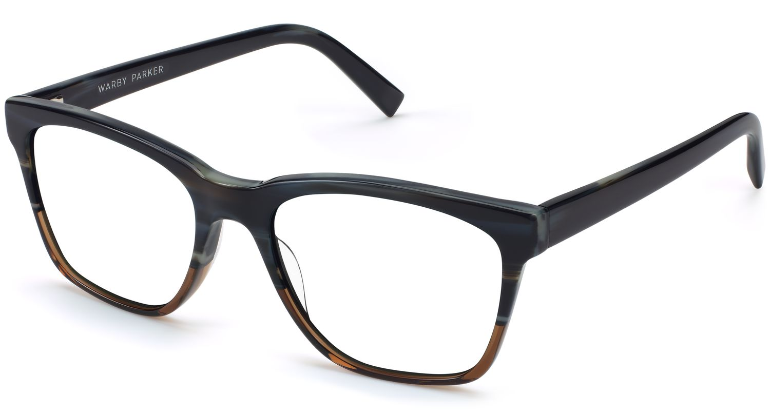 Angle View Image of Barkley Eyeglasses Collection, by Warby Parker Brand, in Antique Shale Fade Color