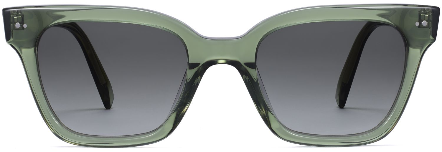 Front View Image of Beale Sunglasses Collection, by Warby Parker Brand, in Rosemary Crystal Color