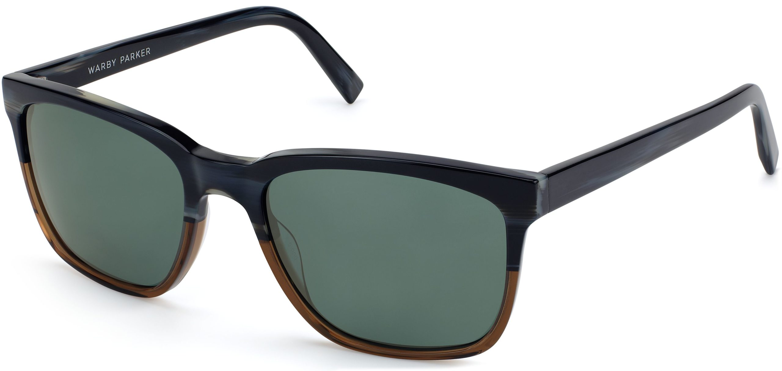 Angle View Image of Barkley Sunglasses Collection, by Warby Parker Brand, in Antique Shale Fade Color