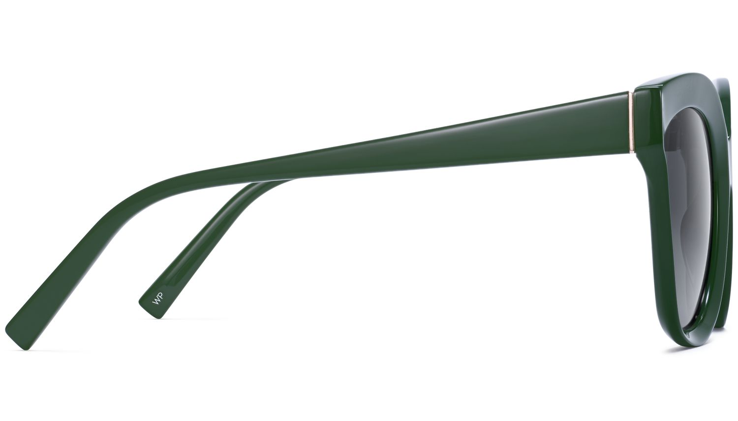 Side View Image of Ada Sunglasses Collection, by Warby Parker Brand, in Forest Green Color