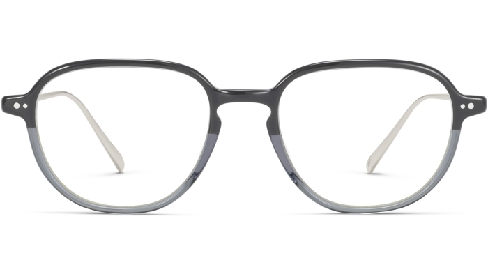 Front View Image of Beasley Eyeglasses Collection, by Warby Parker Brand, in Stone Fade with Polished Silver Color