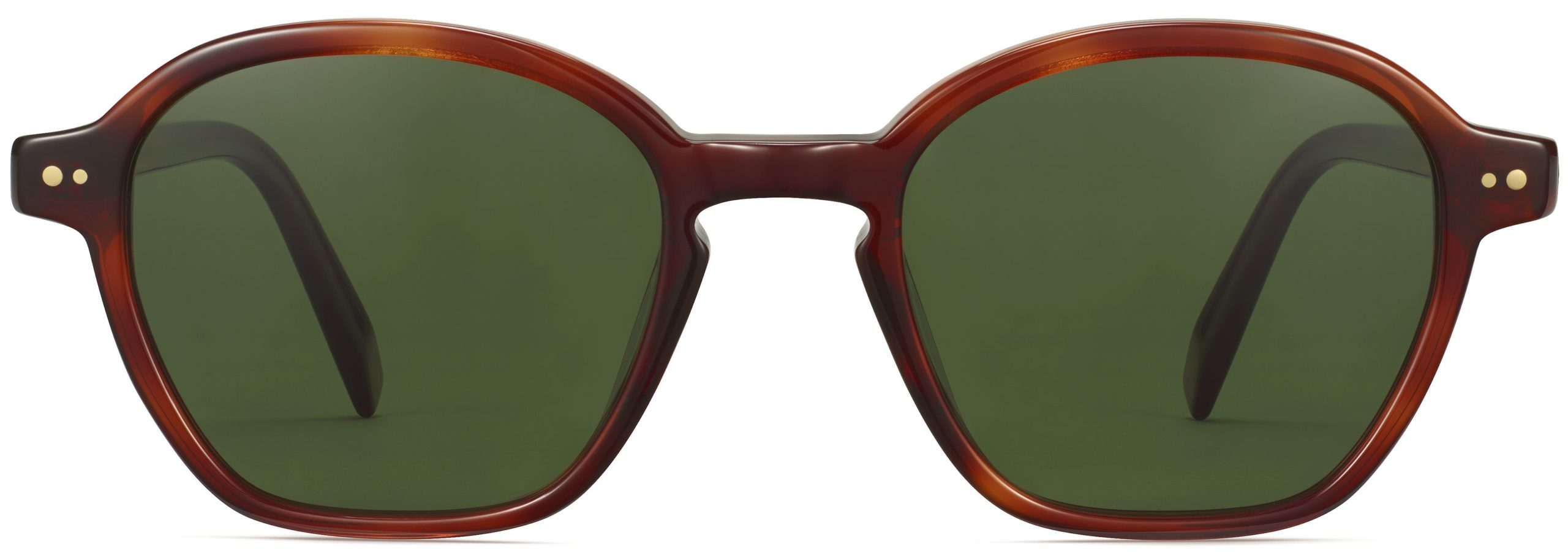 Front View Image of Britten Sunglasses Collection, by Warby Parker Brand, in Amber Tortoise Color