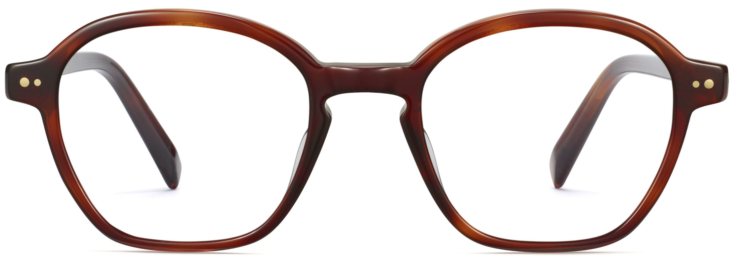 Front View Image of Britten Eyeglasses Collection, by Warby Parker Brand, in Amber Tortoise Color