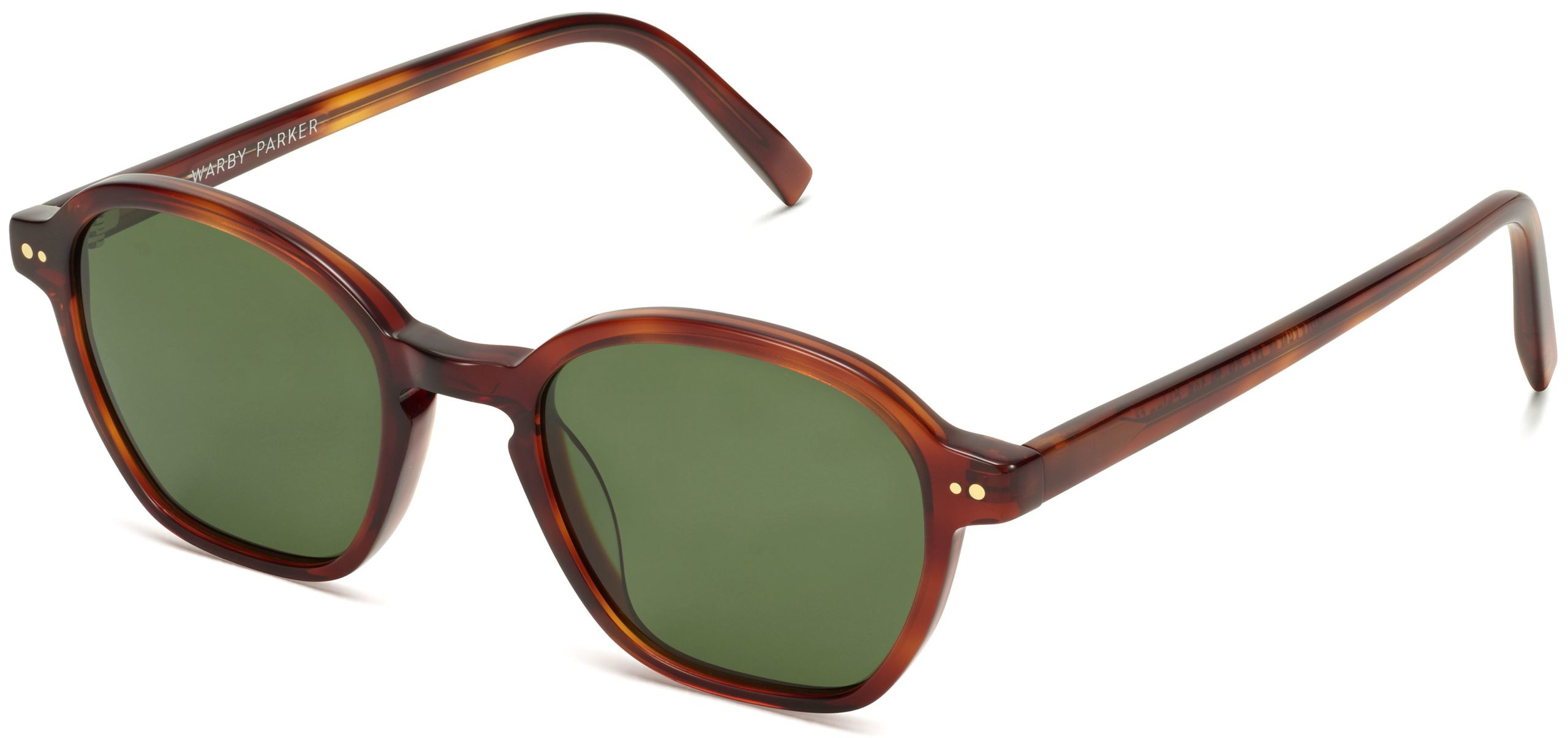 Angle View Image of Britten Sunglasses Collection, by Warby Parker Brand, in Amber Tortoise Color