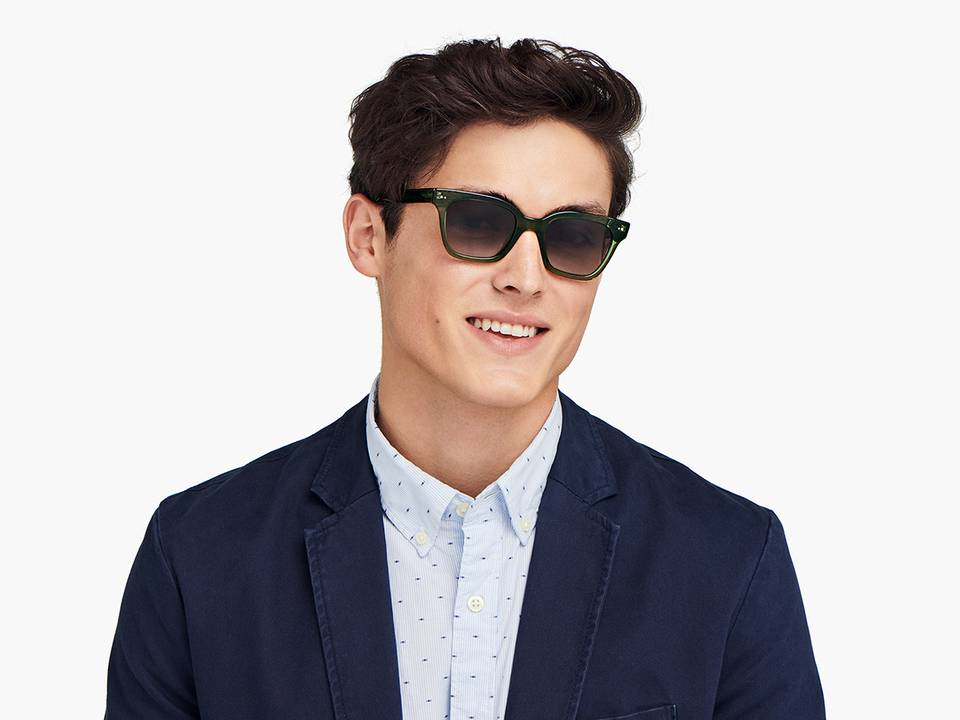 Men Model Image of Beale Sunglasses Collection, by Warby Parker Brand, in Jet Black Color