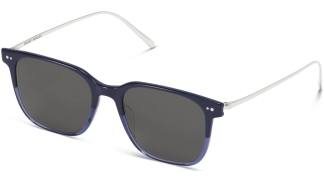 Angle View Image of Caleb Sunglasses Collection, by Warby Parker Brand, in Midnight Fade with Polished Silver Color