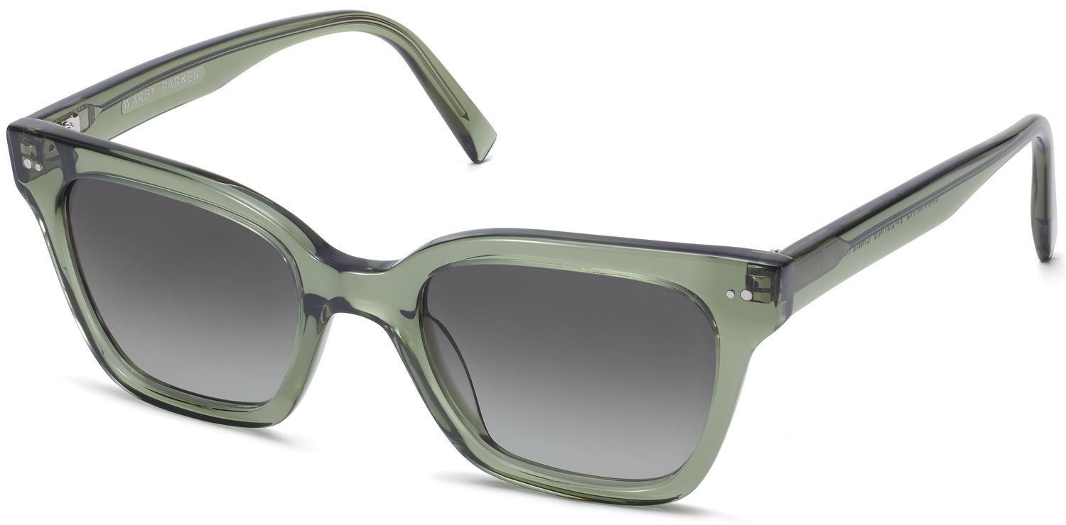 Angle View Image of Beale Sunglasses Collection, by Warby Parker Brand, in Rosemary Crystal Color