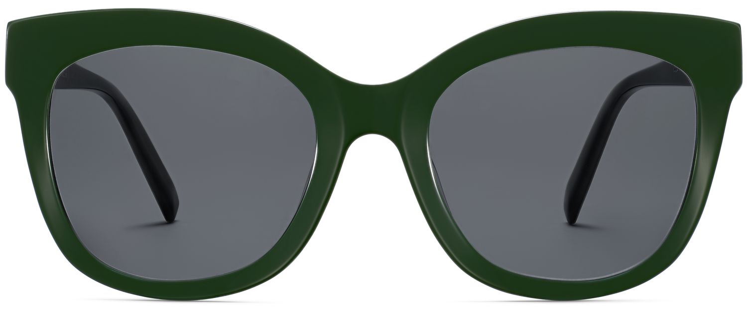 Front View Image of Ada Sunglasses Collection, by Warby Parker Brand, in Forest Green Color