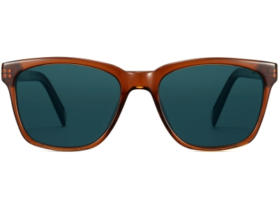 Front View Image of Barkley Sunglasses Collection, by Warby Parker Brand, in Cacao Crystal Color