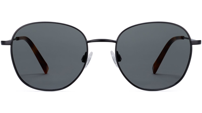 Front View Image of Cyrus Sunglasses Collection, by Warby Parker Brand, in Brushed Ink Color