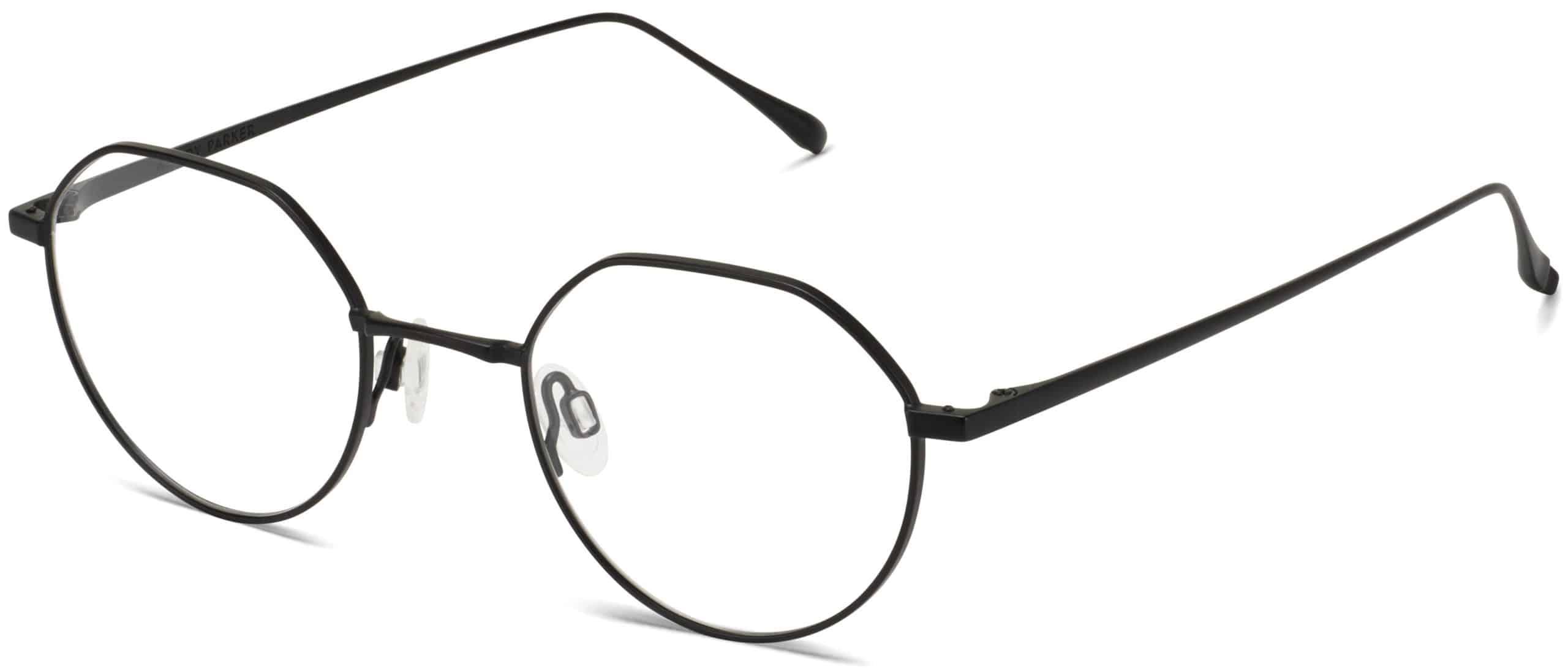 Gavin Eyeglasses Review - Warby Parker - Brushed Ink - 46-21-145 - Women