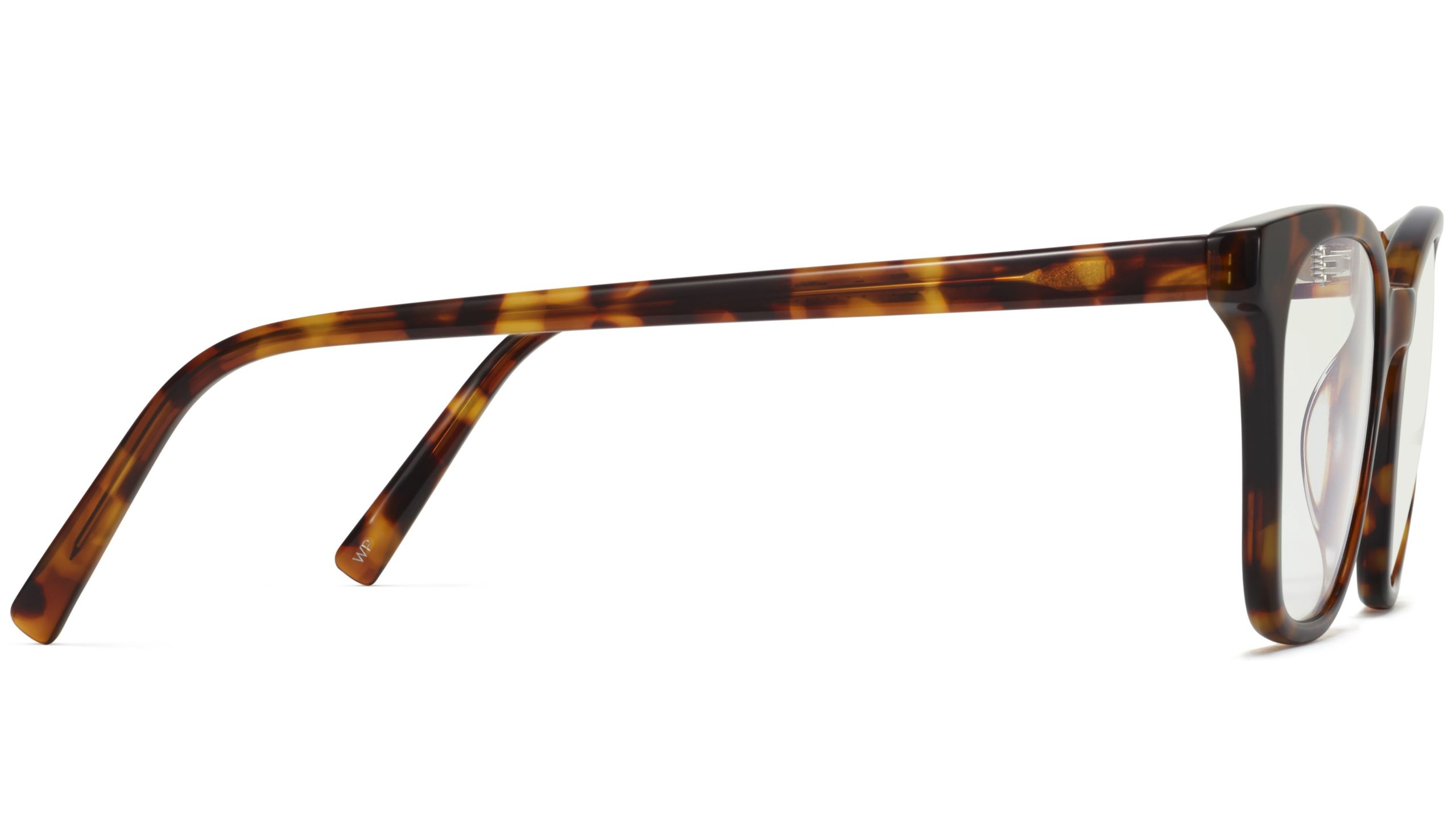 Side View Image of Griffin Eyeglasses Collection, by Warby Parker Brand, in Acorn Tortoise Color