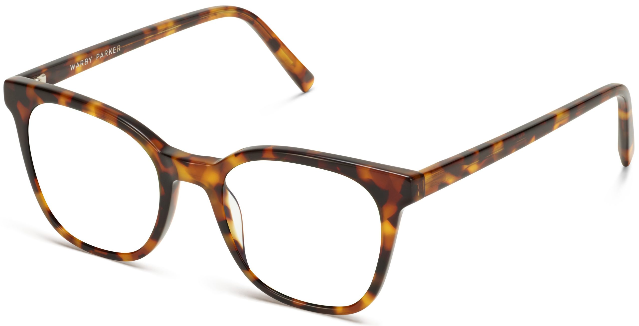Angle View Image of Griffin Eyeglasses Collection, by Warby Parker Brand, in Acorn Tortoise Color