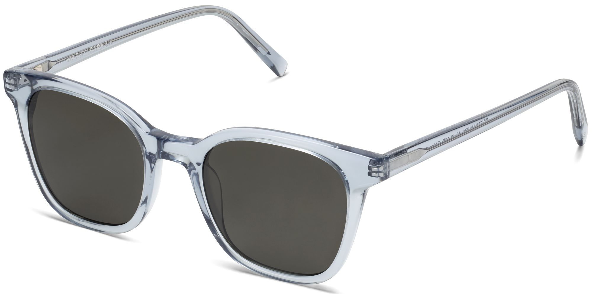 Angle View Image of Griffin Sunglasses Collection, by Warby Parker Brand, in Pacific Crystal Color