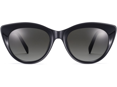 Front View Image of Leta Sunglasses Collection, by Warby Parker Brand, in Jet Black Color