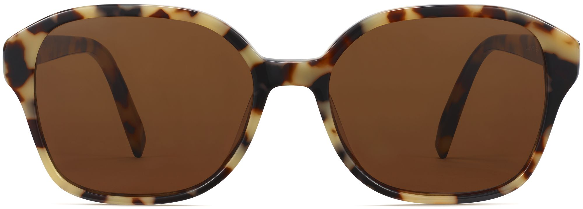 Front View Image of Lila Sunglasses Collection, by Warby Parker Brand, in Marzipan Tortoise Color