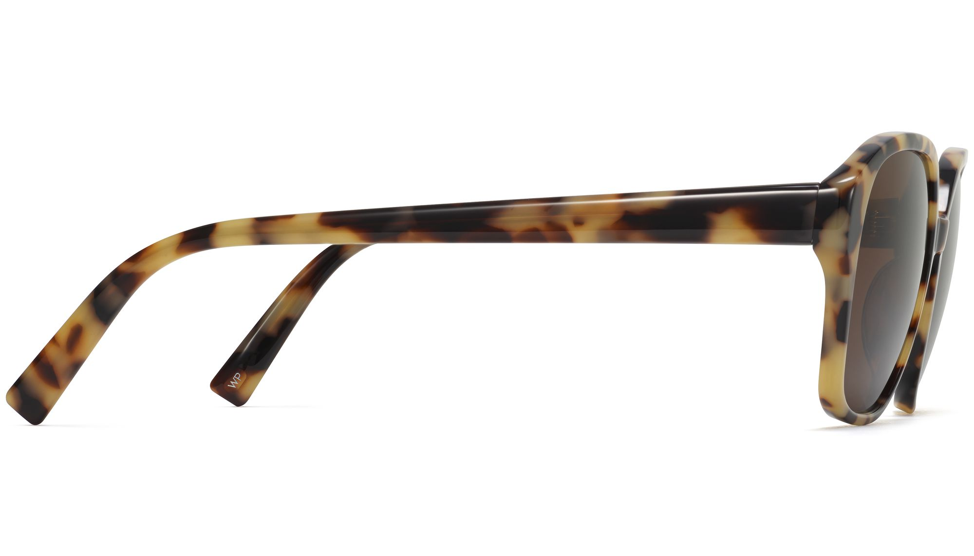 Side View Image of Lila Sunglasses Collection, by Warby Parker Brand, in Marzipan Tortoise Color