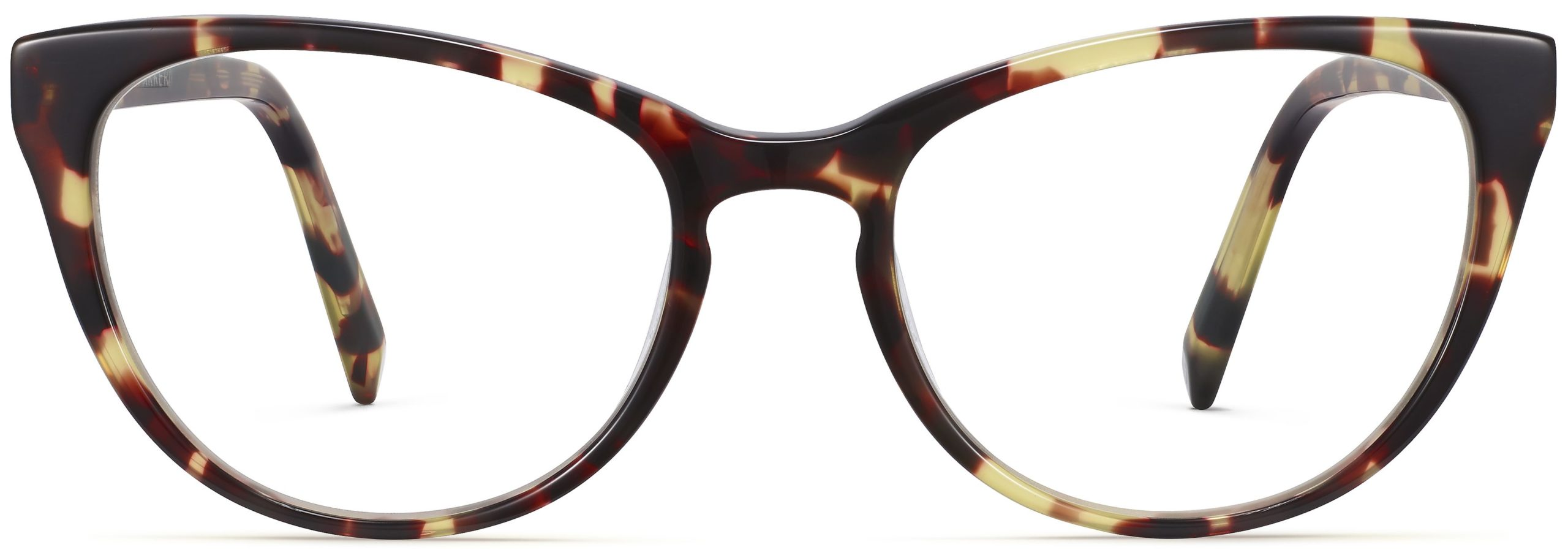 Front View Image of Shea Eyeglasses Collection, by Warby Parker Brand, in Burnt Lemon Tortoise Color