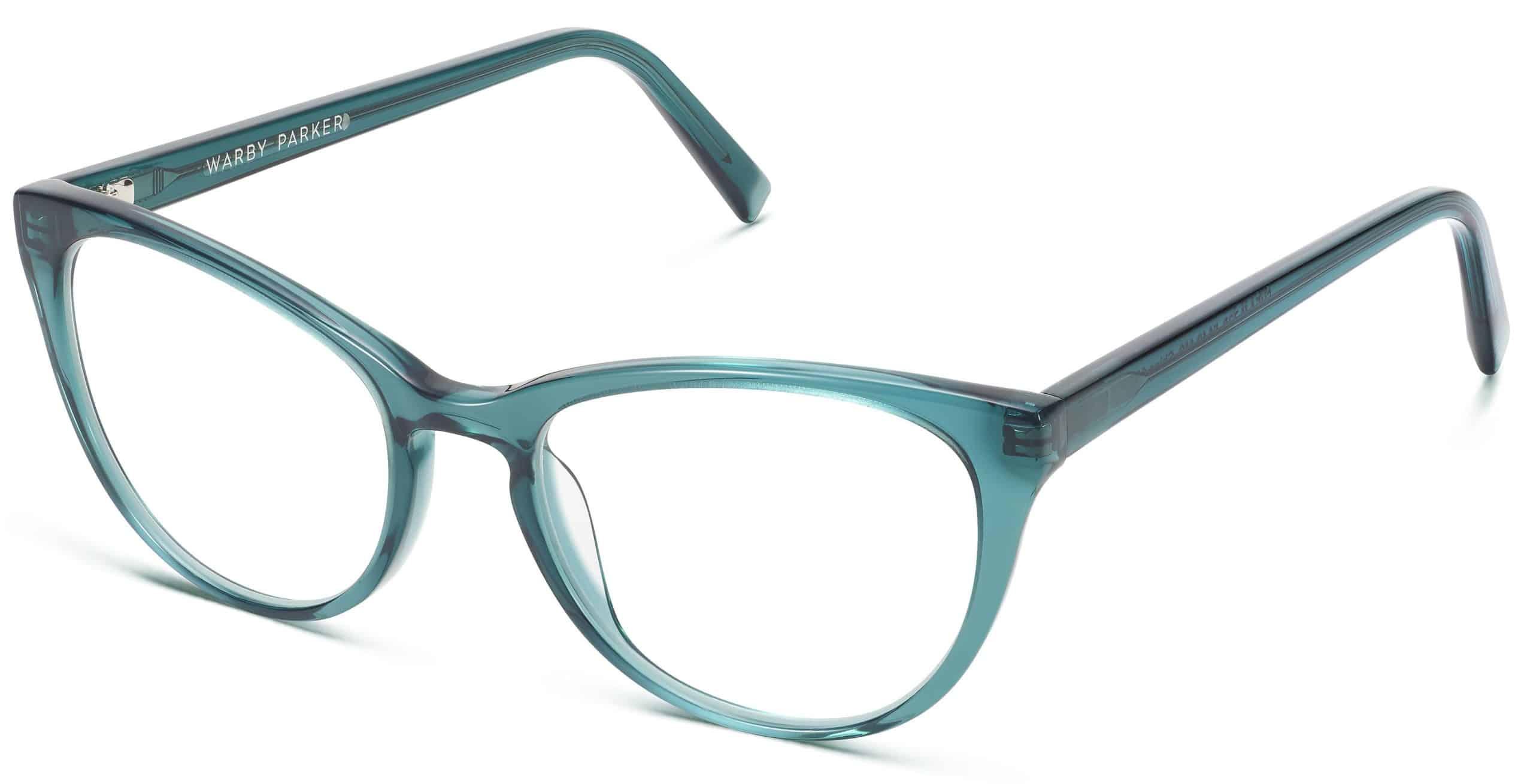 Shea Eyeglasses Review - Warby Parker - Peacock Green - 51-18-140 - Women