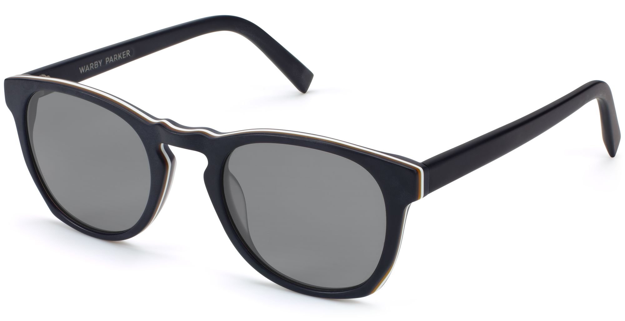 Angle View Image of Topper Sunglasses Collection, by Warby Parker Brand, in Black Matte Eclipse Color